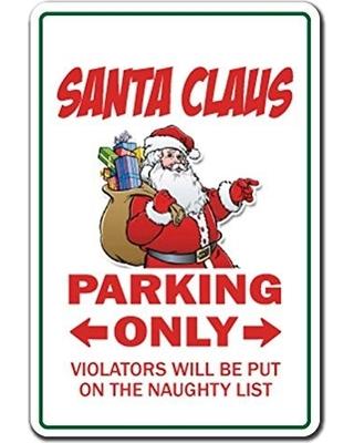 Santa Parking Tag